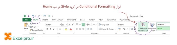 ابزار Conditional Formatting در اکسل