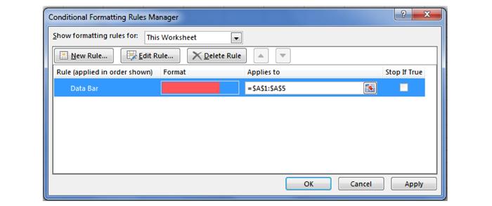 پنجره Manage Rules